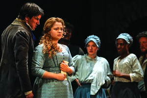 Carrie Hope Fletcher as Fantine and Company in Les Misérables – Photograph Johan Persson